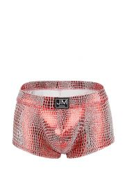 Jockmail High Reflective Embossed Boxer Red