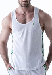 Leader Electric Tank Top White