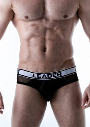 Leader Shock Backless Brief Black