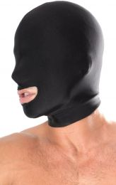 Pipedream Fetish Fantasy Spandex Open Mouth Hood Black