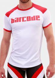 Barcode Berlin T Shirt Grisha White Red