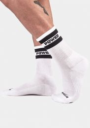 Barcode Berlin Half Fetish Socks Power White Black