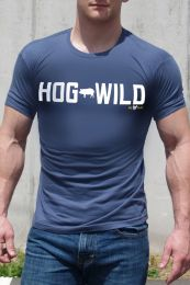 Ajaxx63 Hog Wild T Shirt Navy