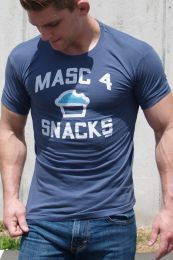 Ajaxx63 Masc4Snacks T Shirt Navy