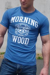 Ajaxx63 Morning Wood T Shirt Blue