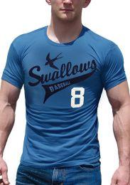 Ajaxx63 Swallows T Shirt Blue