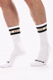Barcode Berlin Fashion Half Socks Bear White Black