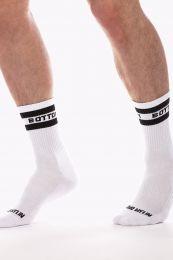 Barcode Berlin Fashion Half Socks Bottom White Black