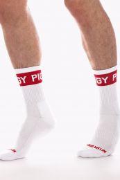 Barcode Berlin Fashion Half Socks Piggy White Red
