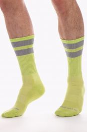 Barcode Berlin Gym Socks Neongreen Grey