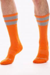 Barcode Berlin Gym Socks Neonorange Grey