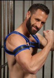 Mr S Leather Neoprene 2.0 Armband Blue