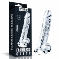 Flawless Clear Dildo 7.5 Inch Translucent