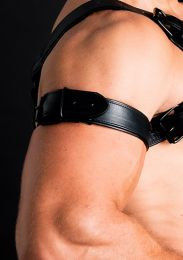 ruff GEAR Double Tone Leather Bicep Strap Black