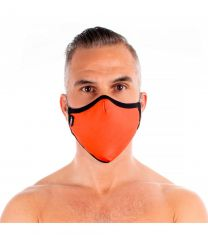 TOF Paris Fashion Seamless Face Mask Orange