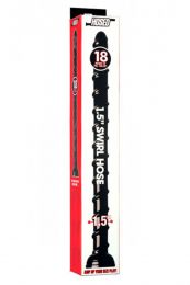 Hosed 18 Inch Swirl Hose 1.5 Inch Diameter Black