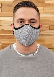 ruff GEAR Easy Breathe Mesh Face Mask Light Grey