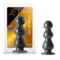 Jet Fierce Carbon Metallic Black 10 Inch Butt Plug