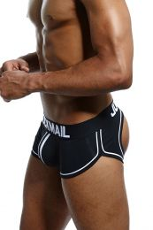Jockmail Racer Backless Boxer Black