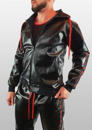 ruff GEAR Fetish Tape Trackie Top Black Red