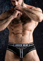 Locker Gear Josh Open Front Bottomless Brief White