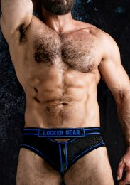 Locker Gear Josh Open Front Bottomless Brief Blue
