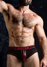 Locker Gear Josh Bottomless Brief with Zipper Red