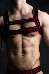 Locker Gear H Harness Black Red