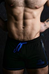 Locker Gear Bottomless Shorts Black Blue