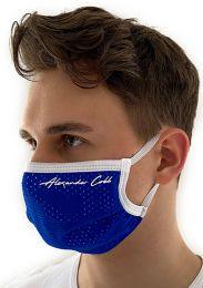 Alexander Cobb Double Layer Face Mask Mesh Blue