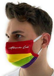 Alexander Cobb Double Layer Face Mask Rainbow