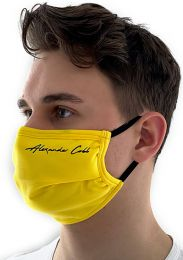 Alexander Cobb Double Layer Face Mask Yellow