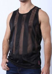 Cellblock 13 Midfield Mesh Tank Top Black