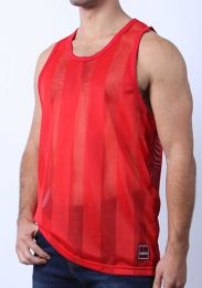 Cellblock 13 Midfield Mesh Tank Top Red