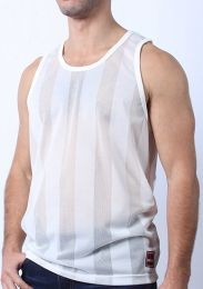 Cellblock 13 Midfield Mesh Tank Top White