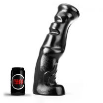 ruff GEAR Dark Knight Dildo 15.4 Inch Black