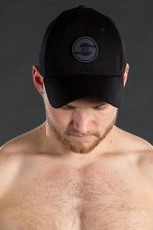 Mr S Leather Logo Cap Black Grey