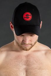 Mr S Leather Logo Cap Black Red