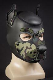 Mr S Leather Neoprene K9 Puppy Hood Black Camo
