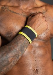 Mr S Leather Neo Carbon Wristband Black Yellow