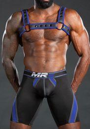 Mr S Leather Nitro Short Blue