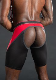 Mr S Leather Nitro Short Jock Red