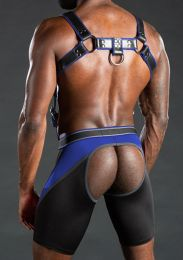 Mr S Leather Nitro Short Jock Blue