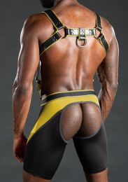 Mr S Leather Nitro Short Jock Yellow