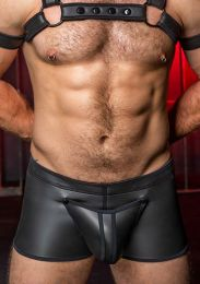 Mr S Leather Neo Codpiece Boxer Black