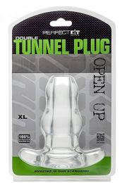 Perfect Fit Double Tunnel Plug XL Transparent