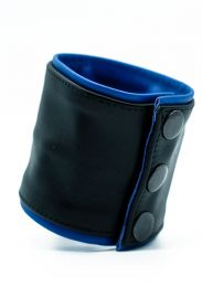 ruff GEAR Double Tone Leather Wrist Strap Wallet Blue Black