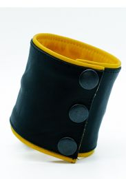 ruff GEAR Double Tone Leather Wrist Strap Wallet Yellow Black
