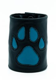 ruff GEAR HOUND Leather Wrist Strap Wallet Aqua Black