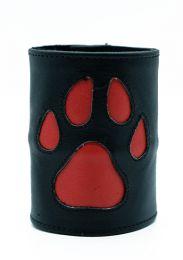 ruff GEAR HOUND Leather Wrist Strap Wallet Red Black